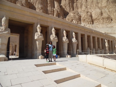 This is us at Hatshepsut Temple